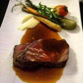 Roast loin of beef by Ironchef Hiroyuki Sakai