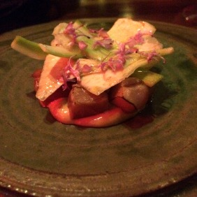 Port Lincoln tuna, anchovies, globe artichoke, rosemary flowers
