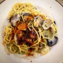 Spaghette alle vongole and bottarga