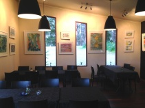 The inside dining area