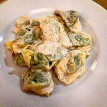 Ravioli with spinach and herbs