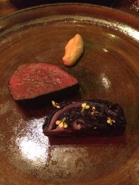 Mayura Wagyu, sesame emulsion, Winter's last cabbage