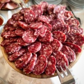 Part of the wedding spread - sausage