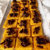 Part of the wedding spread - Polenta with mushroom
