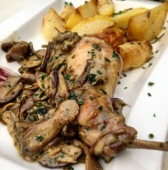 Rabbit with mushrooms