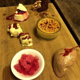 The dessert platter (slightly eaten)