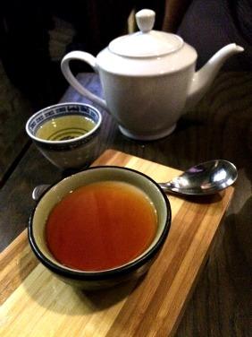 Jasmine tea infused custard burnt caramel