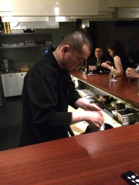 Chef Kentaro Usami at work