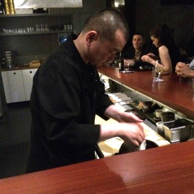 Chef Kentaro Usami at work