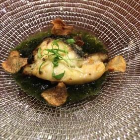 Grouper, Jerusalem artichoke, seaweed