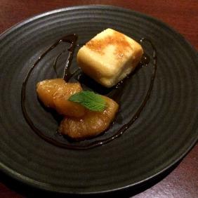 Tofu cake with pineapple