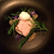 Poached chicken, globe artichoke, local asparagus and parmesan