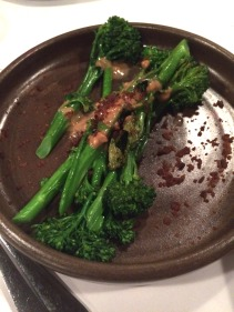 Broccolini, peanut dressing, crispy shallot
