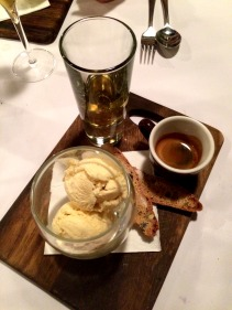 Affogato – house made ice cream with espresso & biscotti