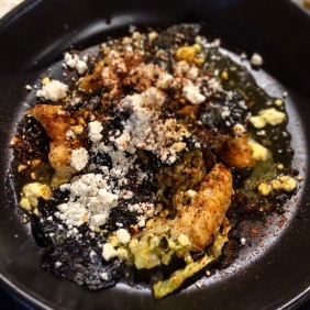 Roasted Moreton Bay bug tails, Brussel sprouts, toasted nori, crustacean oil, yuzu, house togarashi