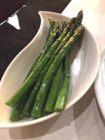 Asparagus dressed in lemon oil