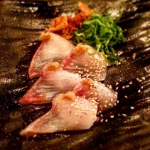 Shiromi Ponzu – Ponzu cured black kingfish, sesame ginger