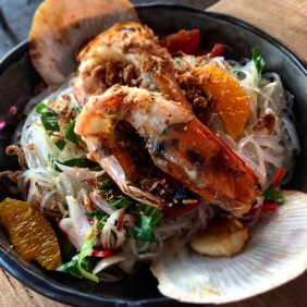 Seafood and glass noodles