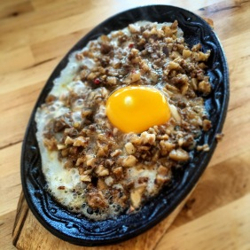 Sizzling Sisig made with pig's ears and cheeks