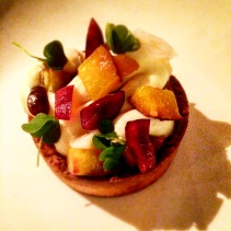 Stone fruit tart
