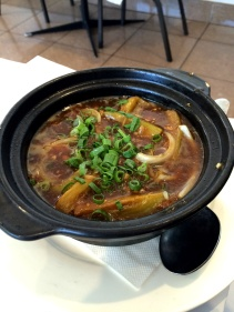 Pork and eggplant hotpot