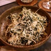 Sugarloaf cabbage, kale, savoury yeast
