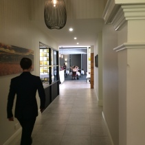 The hallway leading to the new dining room