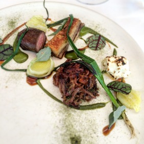 Mutton, sorrel, sheep milk fetta, saltbush, leek