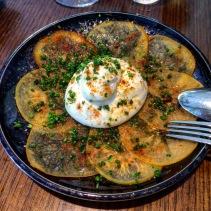 Burrata, persimmon, old bay