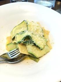 Lasagne, zucchini flowers, cider butter