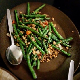 Dry Fried Green Beans with Pork