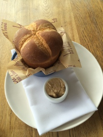 Rye spelt brioche bread with burnt butter mascarpone