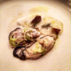The oysters revealed - in their full glory...