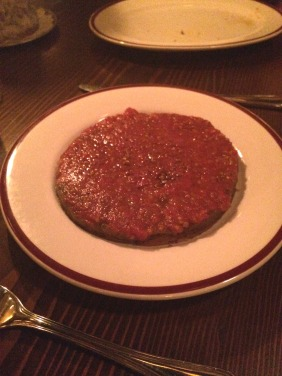 Tomato tart – tomato confit, onion jam, black olive, puff pastry