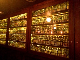 The tiny bottle collection at the entrance