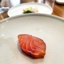 House smoked salmon, air dried with house ricotta, lemon and chives