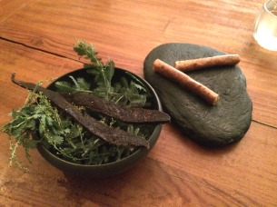 Beef jerky and cigars of sheep milk cheese