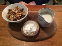 Granola with sheeps milk yoghurt