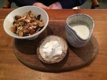 Granola with sheeps milk yoghurt