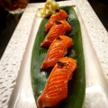 Nigiri - Ocean trout umami sansho with soy, shansho pepper and lime