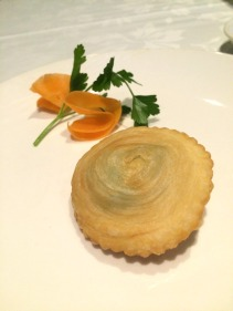 Fried spring onion pastry with minced pork