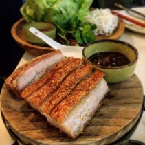 Crispy Pork Belly, Vietnamese Herbs, Lettuce Cups from Madame Hanoi, Adelaide