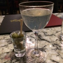 Gin martini with citrus (and olives)