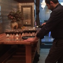 Sommelier Marco at work