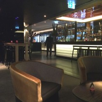 Entering through the bar