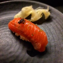 Nigiri - Ocean trout umami sansho with soy, shansho pepper and lime