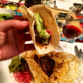 Yummy beef in tortilla