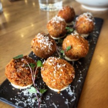 Porcini arancini with aioli