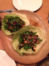 Mushroom and Chinese broccoli san choy bao