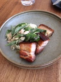 Pork belly and cannellini